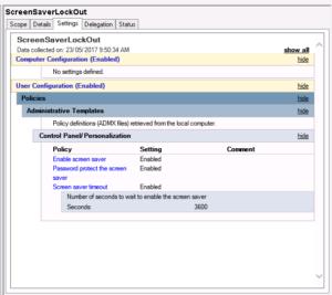 図4. パスワード保護スクリーンセーバによる画面ロック設定
