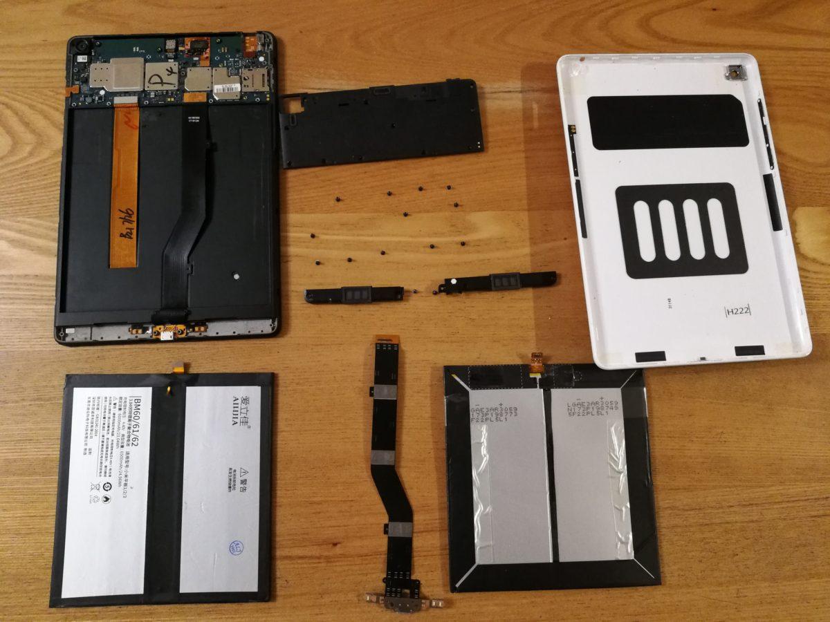 Xiaomi Mi Pad 1 小米平板一代(A0101) のバッテリ&充電コネクタ交換
