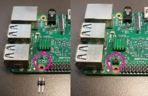 図02.Raspberry Pi 3のRUNピンヘッダ