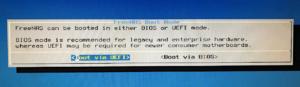 図5.Select Boot Mode