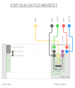 図11.ESP-01SとMOSFET合体結線図