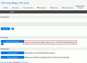 図06.ESP Easy OTA Update Acceptable
