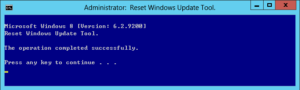 図06. Reset the Windows Update Components実行完了