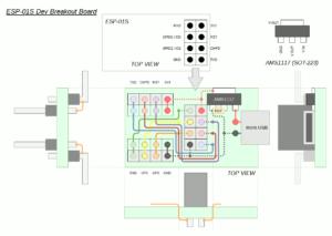 図1.ESP-01S Dev Breakout Board Design