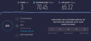 図11.HKT家庭用1000M回線単独速度