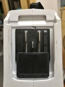 図03.マキタ掃除機のバッテリ接続部