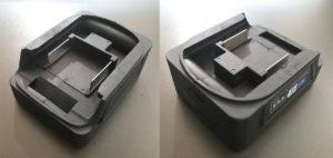 図01.購入したマキタバッテリ互換USBアダプタ