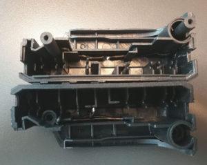 図07.台座にアルミ針金埋め込み