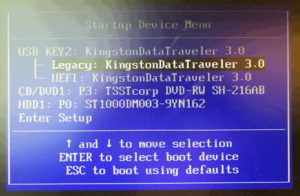図22.ThinkCentre Startup Device Menu