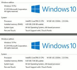 図07.Windows10も8GBRAMを認識