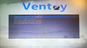 図4.Ventoy起動選択メニュー
