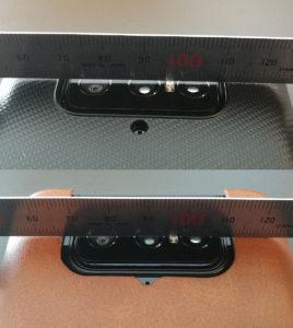 図2.Flip Camera出っ張り度合い比較