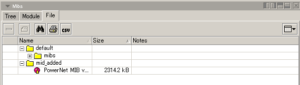 図07.追加したMIBをファイル単位で確認