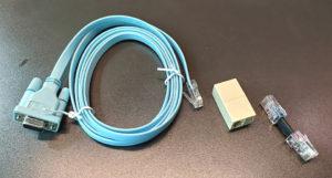 図6.Ciscoコンソールケーブルと変換ケーブルの構成