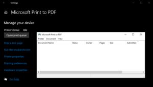 図2.Windows10 Microsoft Print to PDF