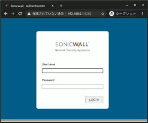 図7.Sonicwall Authentication