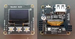 図4.NanoPi NEO2 Black OLED HAT