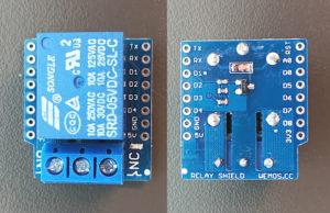 図10.WeMos D1 mini Relay Shield基板