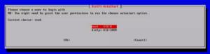 図10.DietPi-Config オートログインユーザ選択