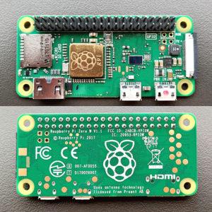 図01.Raspberry Pi Zero W表裏