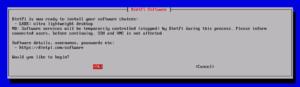図05.LXDE選択状態で進めるインストール確認画面