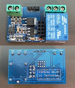図02.LC Tech版ESP-01Sリレーモジュール基板