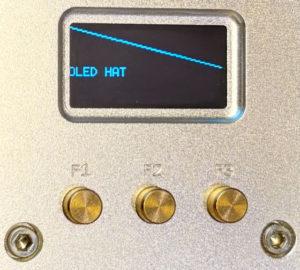 図6.Node.js oled-i2c-bus表示テスト