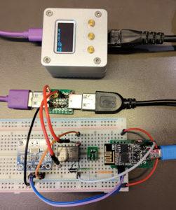 図8.リレーとI2Cセンサを同時接続するESP-01S