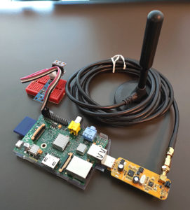 図01.Raspberry Pi ADS-B受信機全景