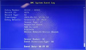 図06.BIOS BMC Event Log 1
