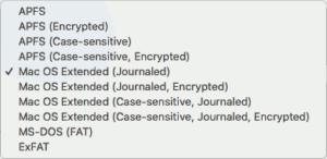 図06.ファイルシステム選択候補一覧