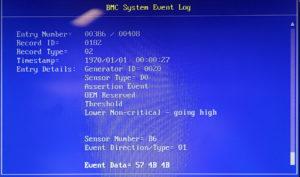 図08.BIOS BMC Event Log 3