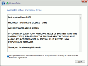 図08.Windows Setup License Terms