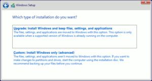 図09.Windows Setup Installation type