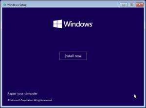 図05.Windows Setup Install now