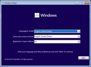 図04.Windows Setup Language to install