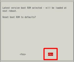 図12.raspi-config Reset boot ROM to defaults