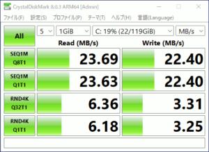 図12.SDカードのCrystalDiskMark結果