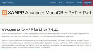 図01.XAMPPデフォルトホームページ