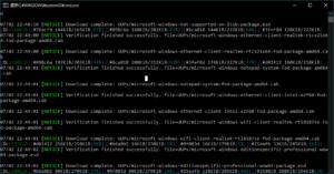 図7.Windows UUPダウンロード中