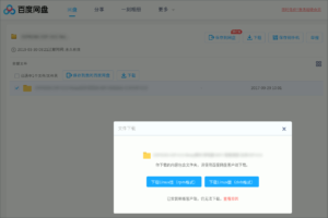 図2.Baidu Panダウンロードページ