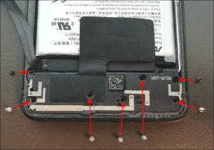 図11.Zenfone7 インターフェイスボードのネジ位置