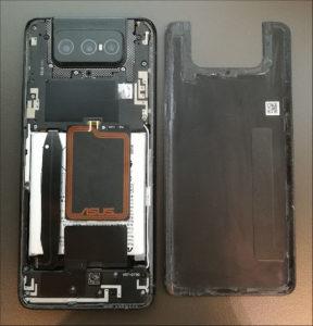 図05.Zenfone7 背面カバー外し