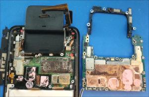図10.Zenfone7 二階建てロジックボード分解